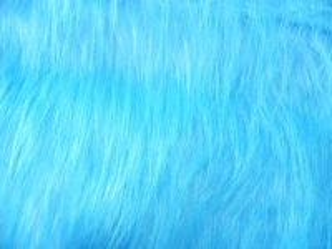 Umělá kožešina metráž, tyrkysově modrá, vlas 90 mm, š. 148cm