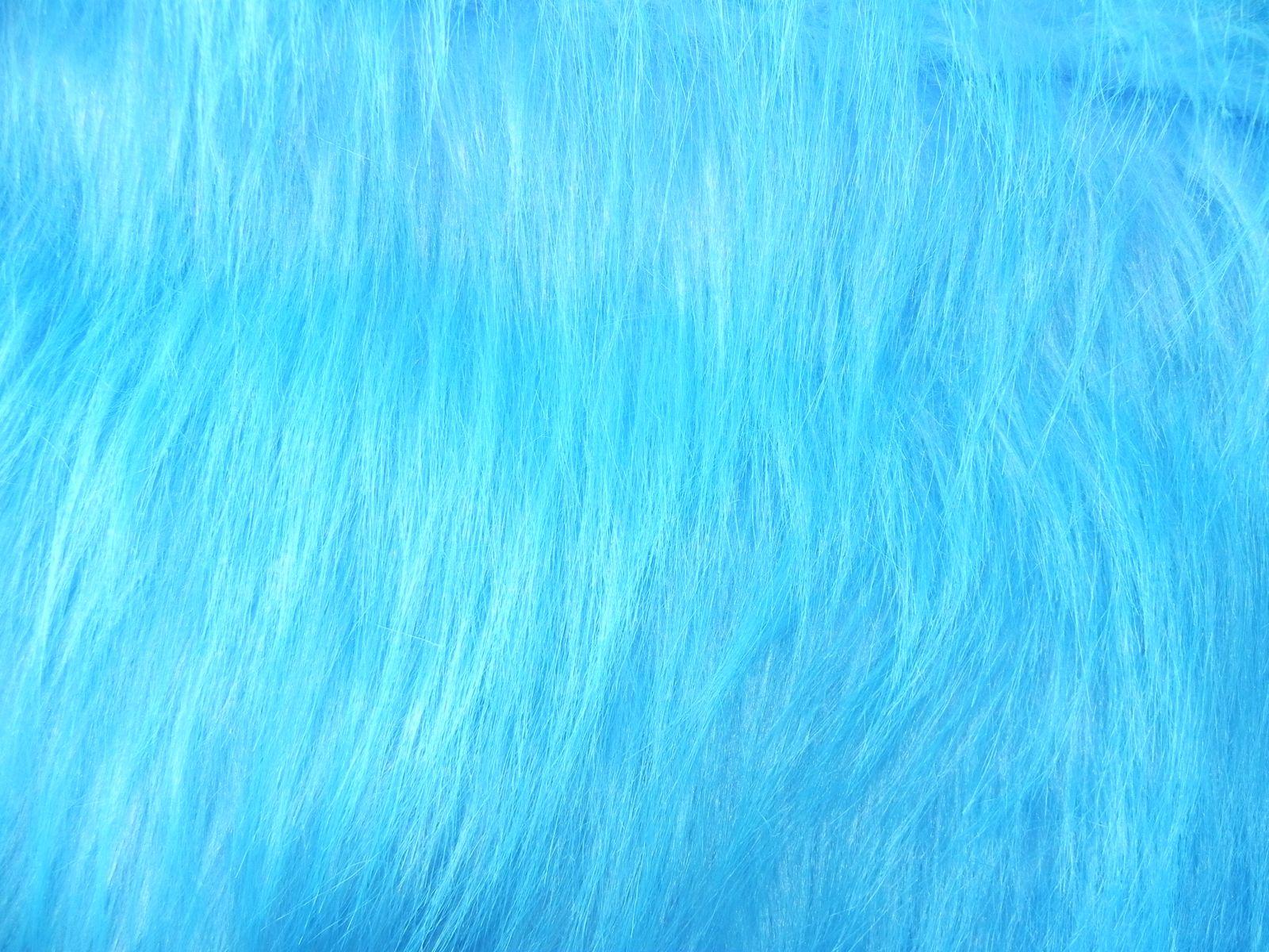 Umělá kožešina metráž, tyrkysově modrá, 90mm vlas, š. 148cm