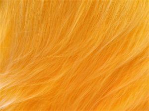 Umělá kožešina, žlutý melír, 90 mm vlas, š.147cm