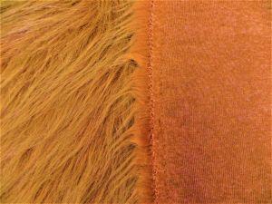 Umělá kožešina, zrzavá, 90mm vlas š.146cm