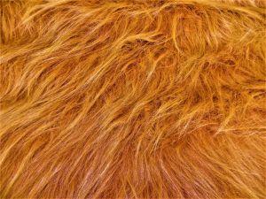 Umělá kožešina metráž, zrzavá, vlas 90 mm, š. 146cm